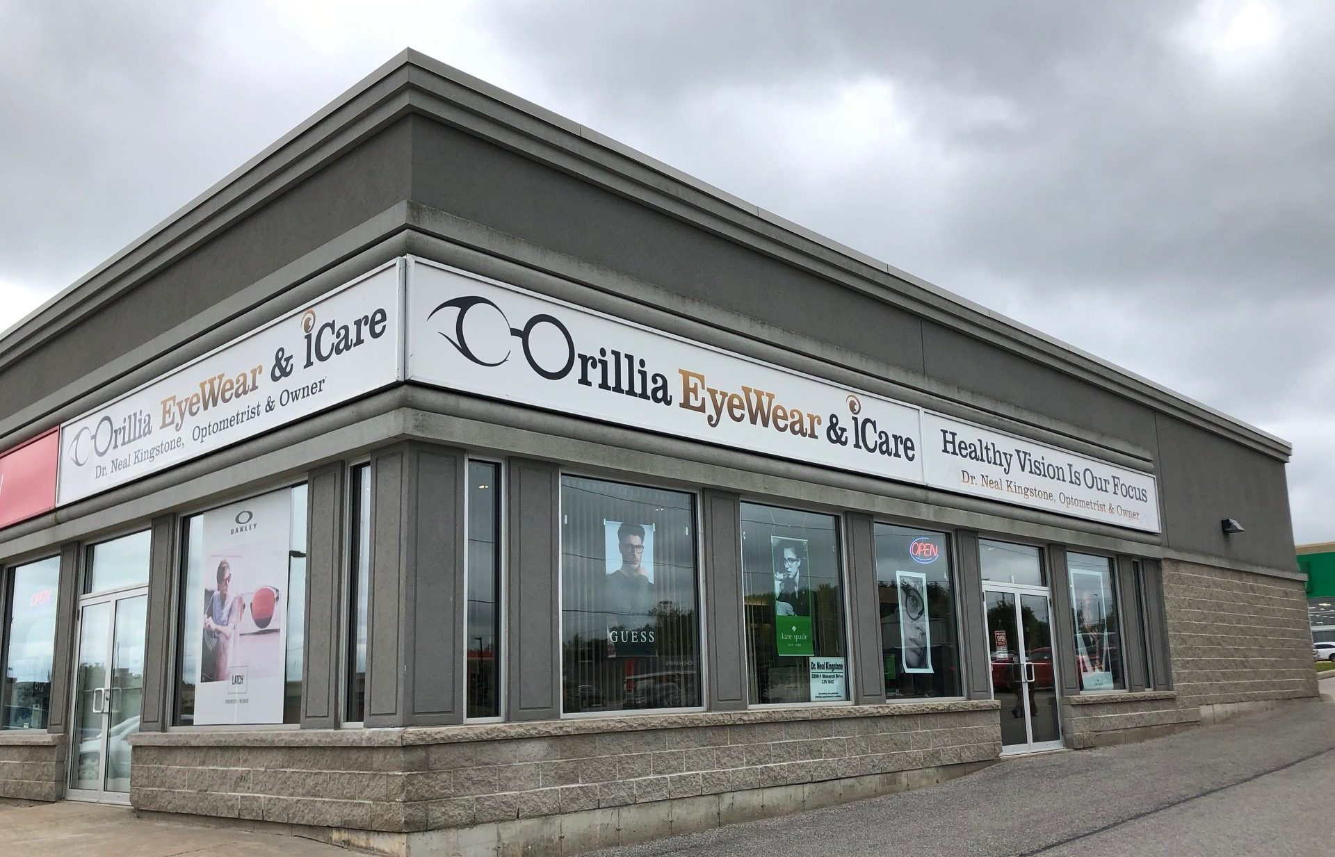 Outside of Orillia Eyewear & iCare